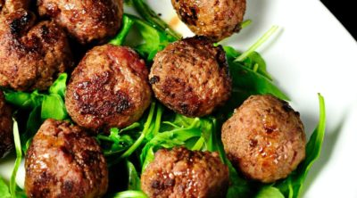 whole30 meatballs on a plate